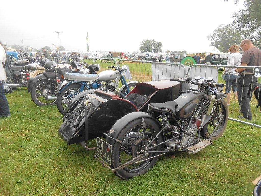 Just some of our members' bikes displayed at the Moreton in Marsh Show during September 2014