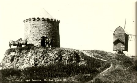 Burton Dassett Windmill & Beacon mid 19th century