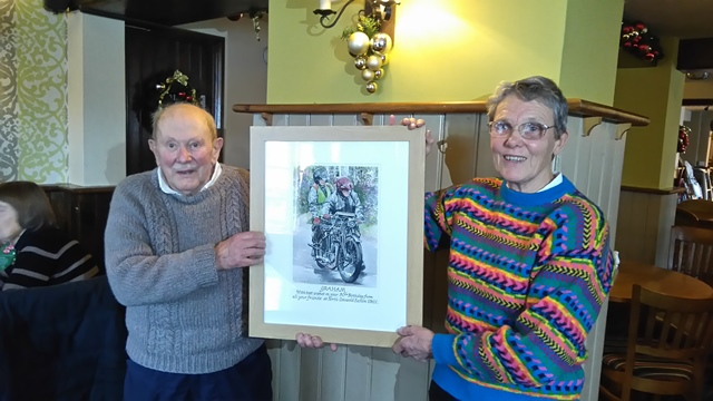 'Graham and Brenda Hallard celebrate Graham's 80th Birthday with the North Cotswold Section'