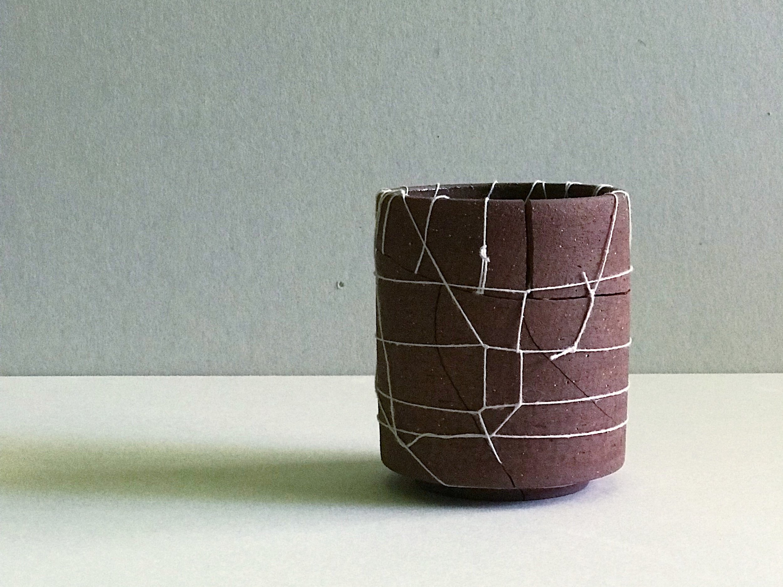 Stoneware, linen bookbinding thread