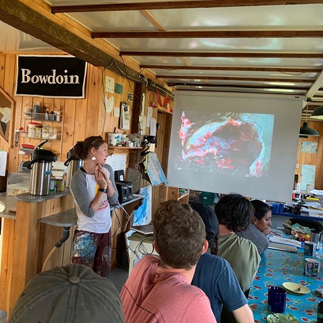 We loved having artist Hallie Mueller our here last week, she brought a new way of viewing the world with her. #scienceandart #bsskentisland