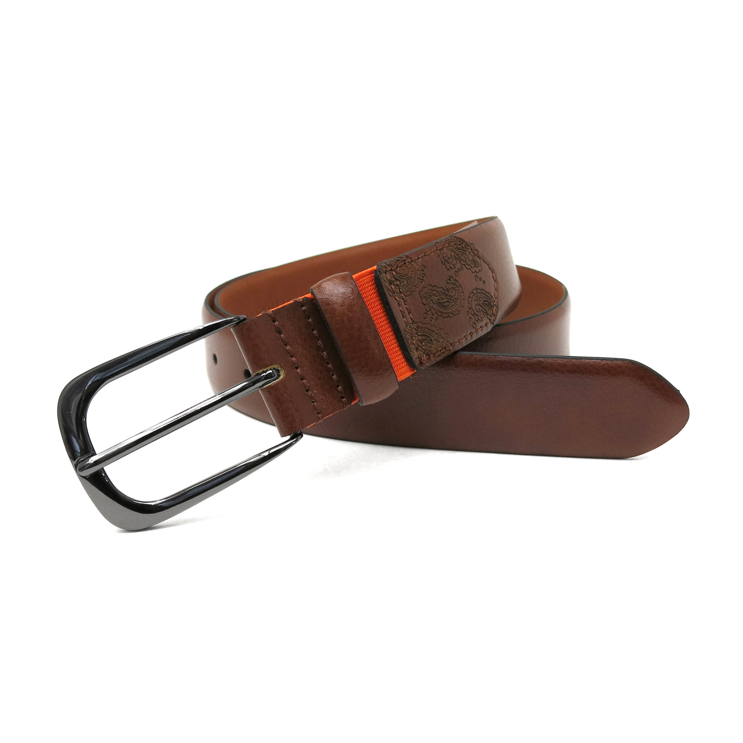 Stretch Belt - Elastic piece is hidden under the keeper Stretches up to 1 inch