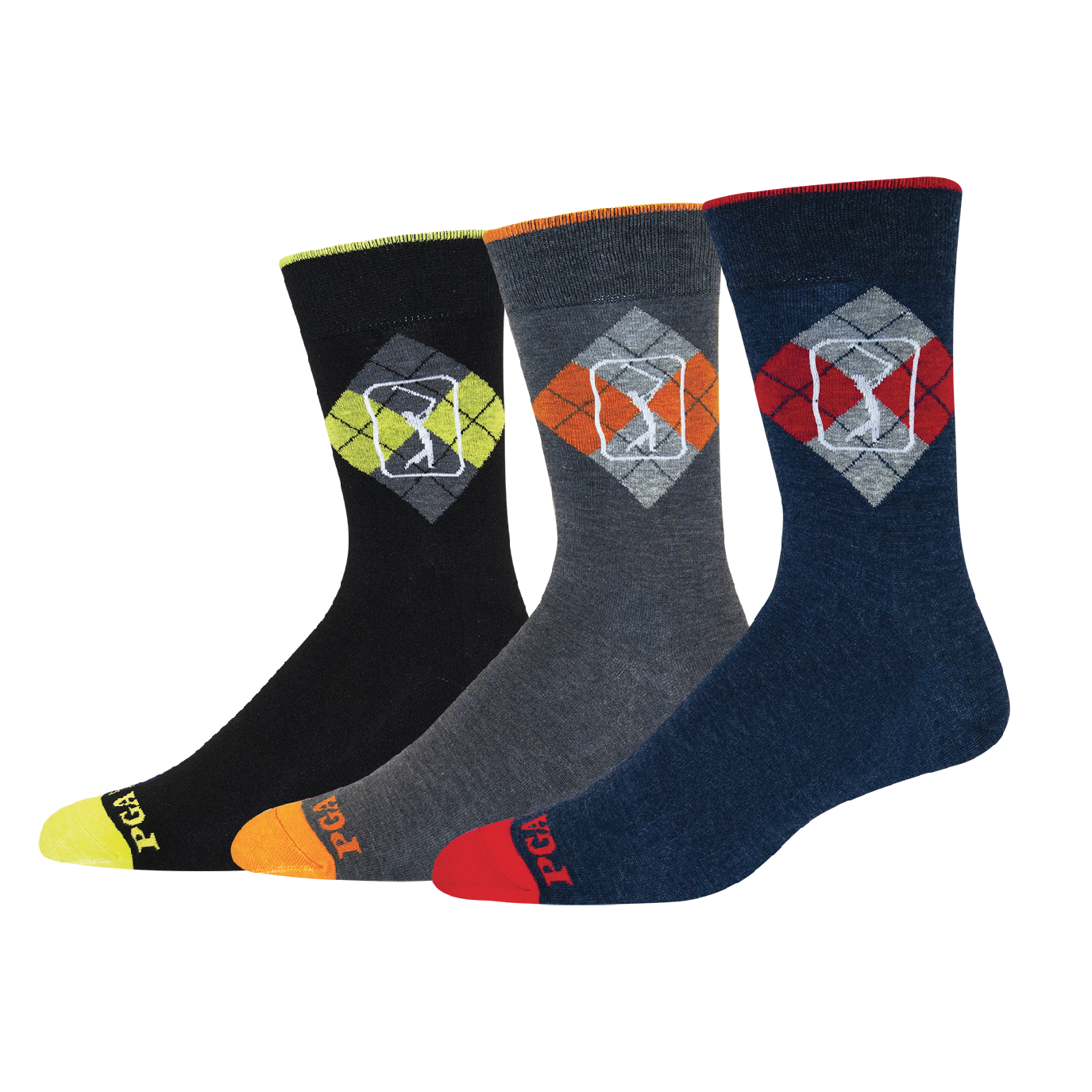 MENS ARGYLE & LOGO CREW SOCKS