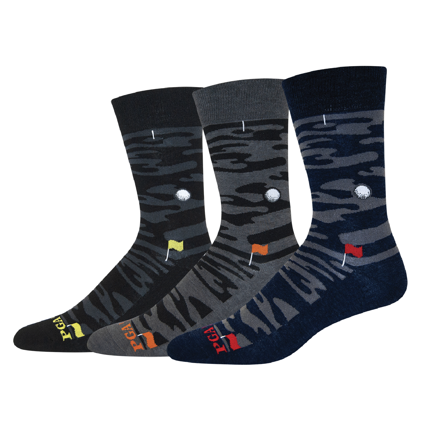 MENS CAMO GOLF CREW SOCKS