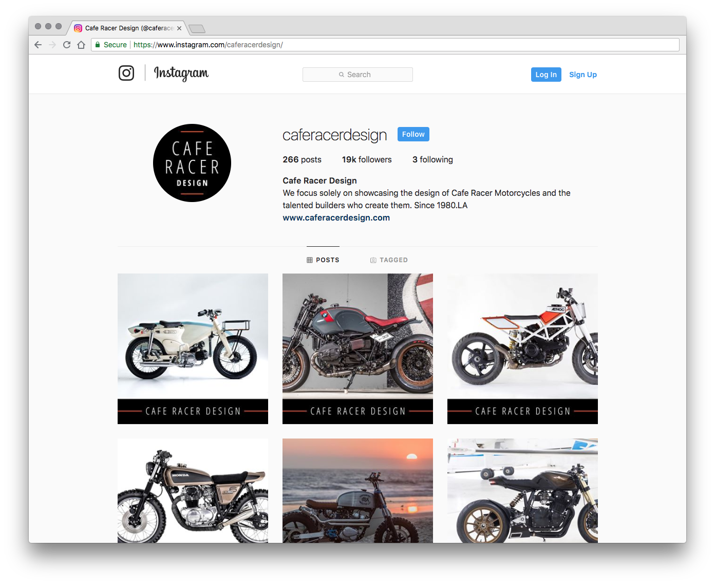 Cafe Racer Design Instagram