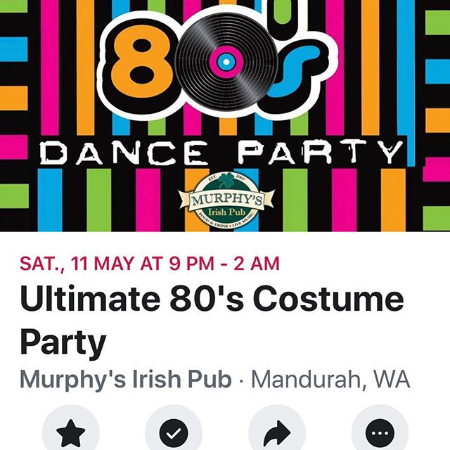 Got nothing on this Sat!! Now you have 👌👌 Dress in ya best 80's glam and party the night away 🤘#hocuspocusccc #murphysirishpubmandurah #80sparty #dresstoimpress