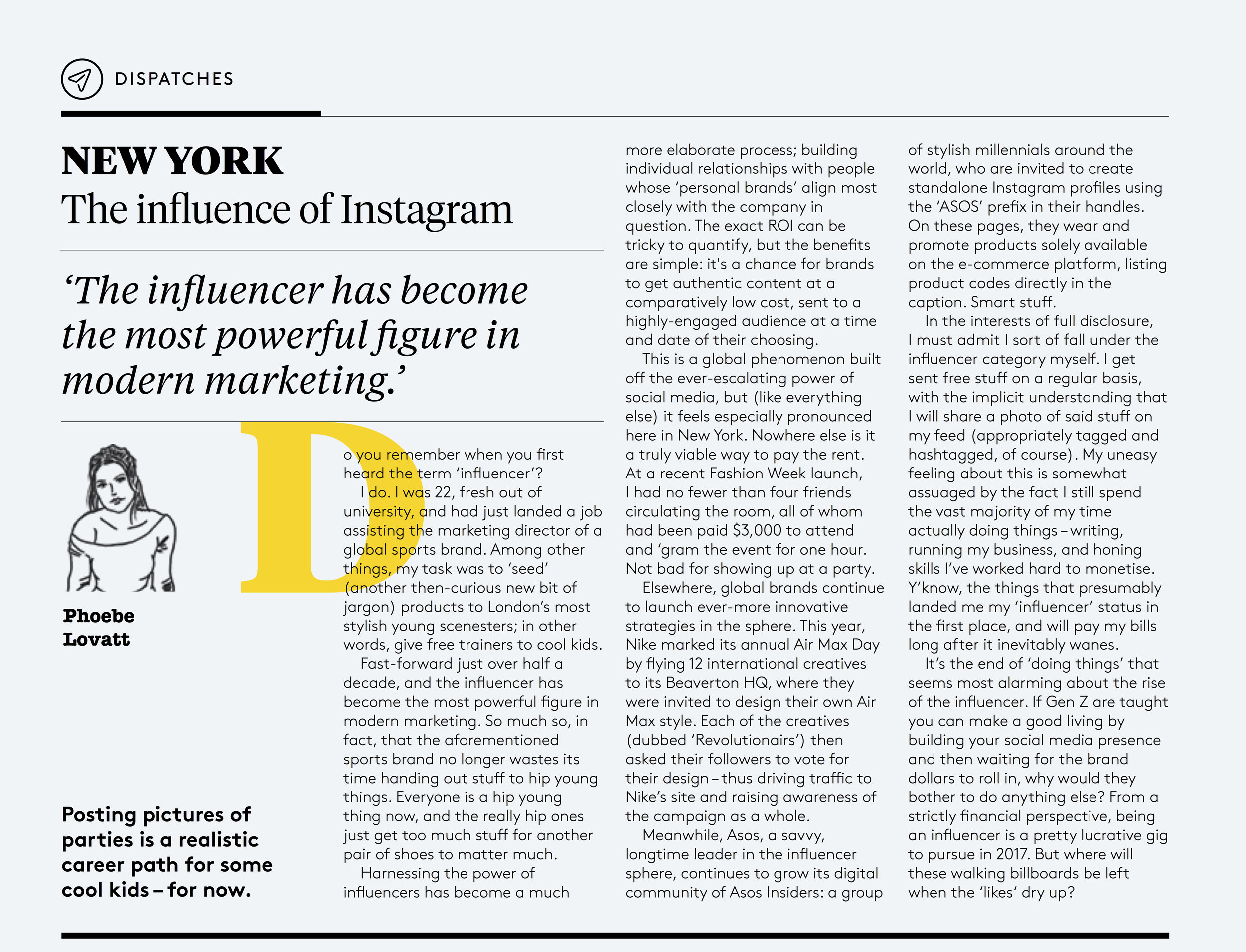 THE INFLUENCE OF INSTAGRAM -