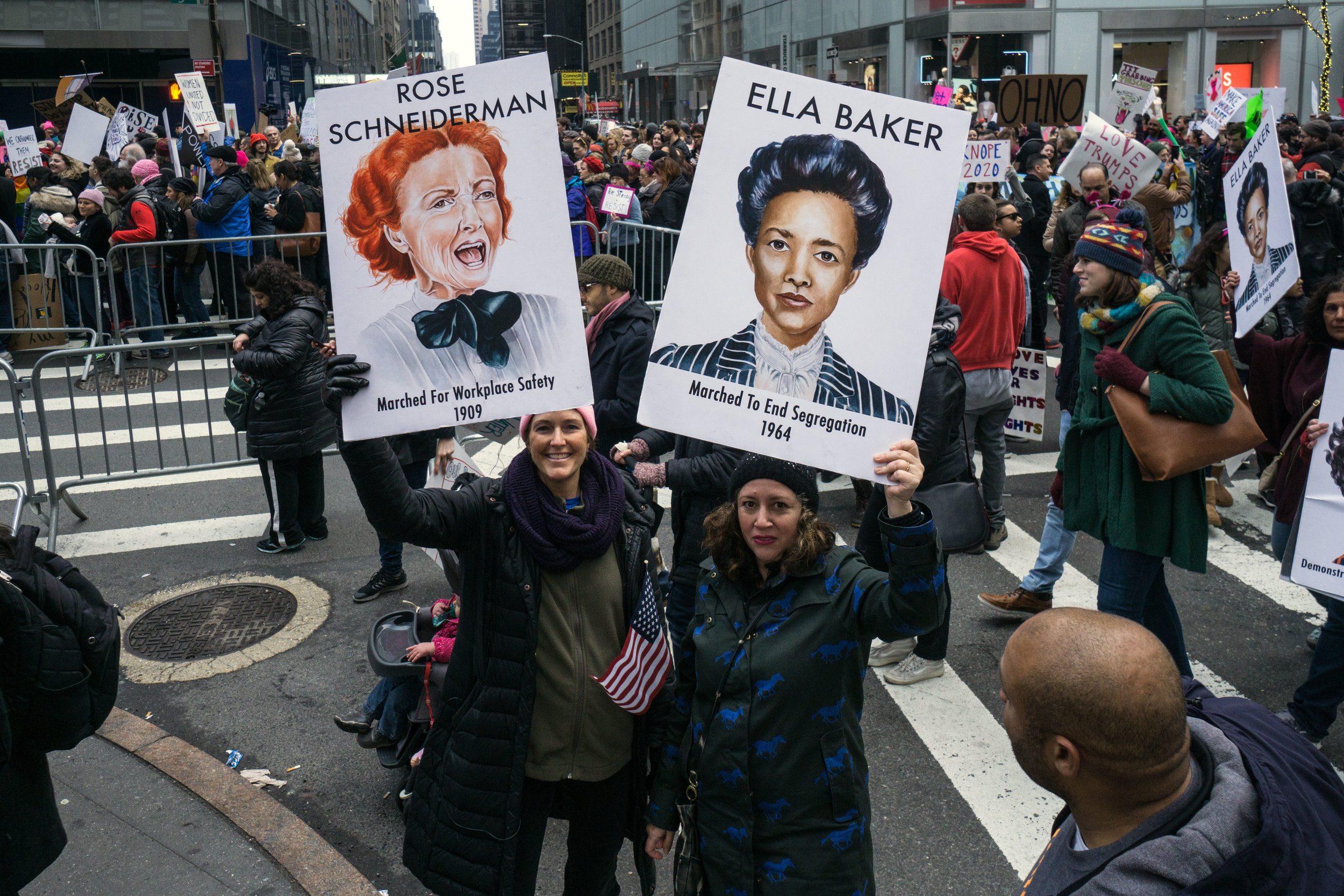 woman's march nyc by Vicky Good