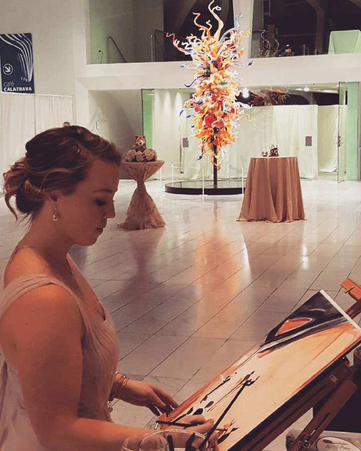 Katie Geis- Midwest Artist and Event Painter, Milwaukee Art Museum