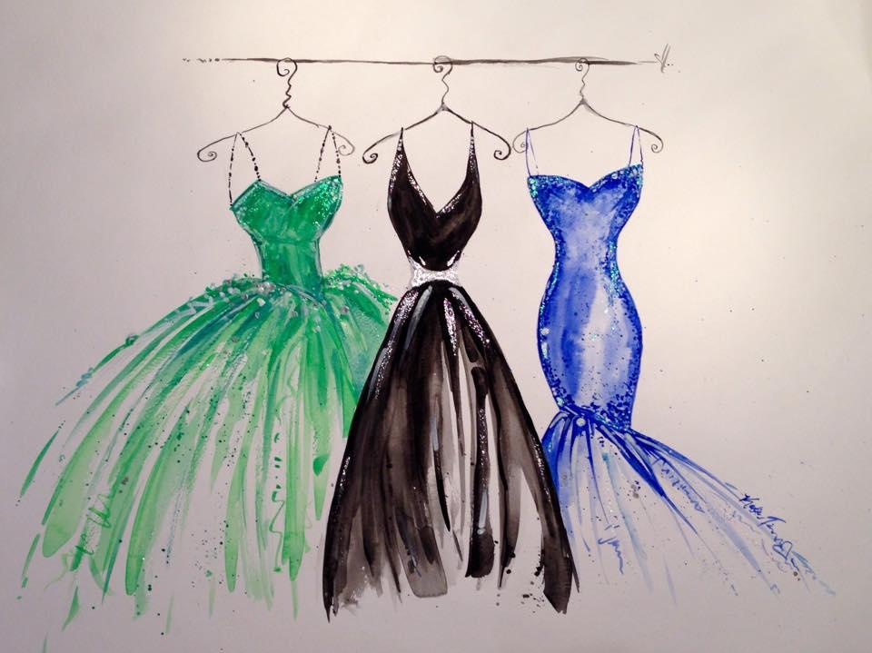 Dress Paintings by Katie Geis