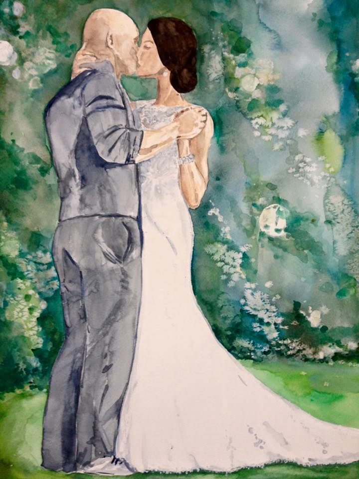 Wedding portraits done by Katie Geis