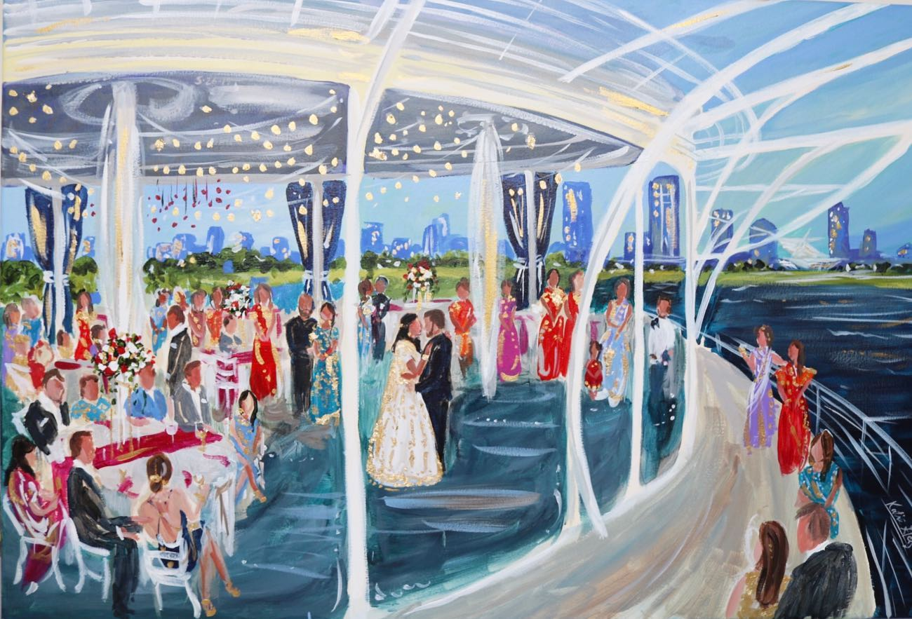 Live Event Painting Milwaukee Discovery World by Katie Geis