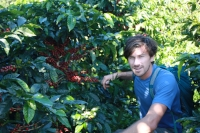 Marc, on his first and only trip to origin in Costa Rica. We hope to make more of these trips someday.