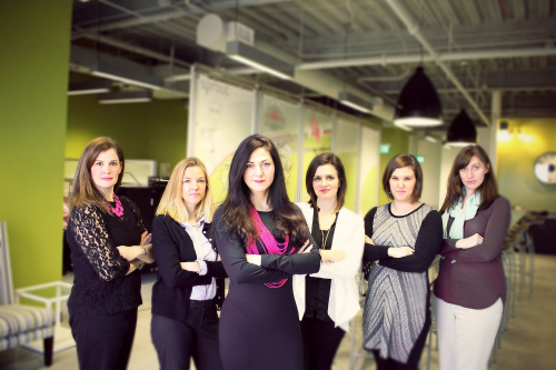 """Sprout's homepage shows an all-female team. However, """"their executive team"""" is only one-third female and their nine-member board contains only one woman. Photo credit: Sprout Pharmaceuticals"""