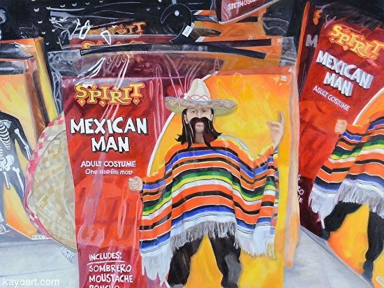 Mexican Man  Oil   36 inches x   48 inches