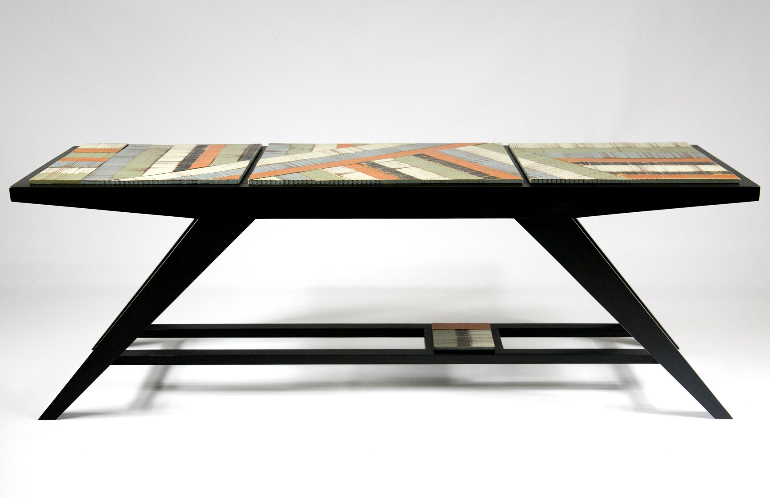 patterned - a bench