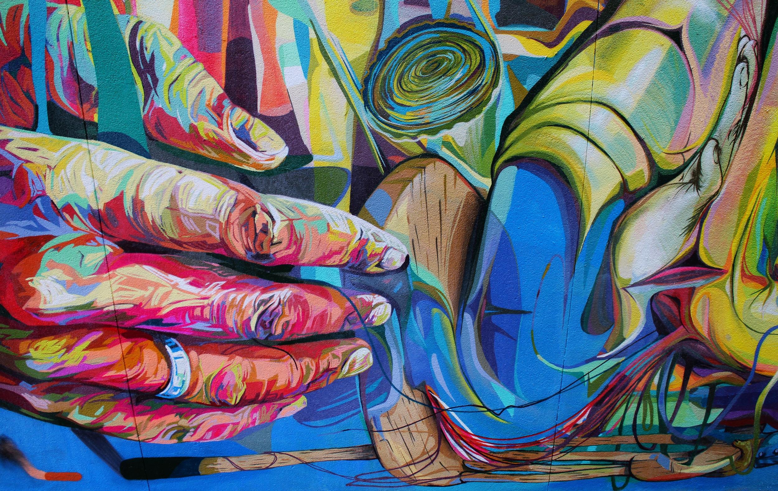 LERCH'S BLANK CANVAS, Trinity-Bellwoods Park, Toronto, ON, 2014  25x50', latex and spray paint