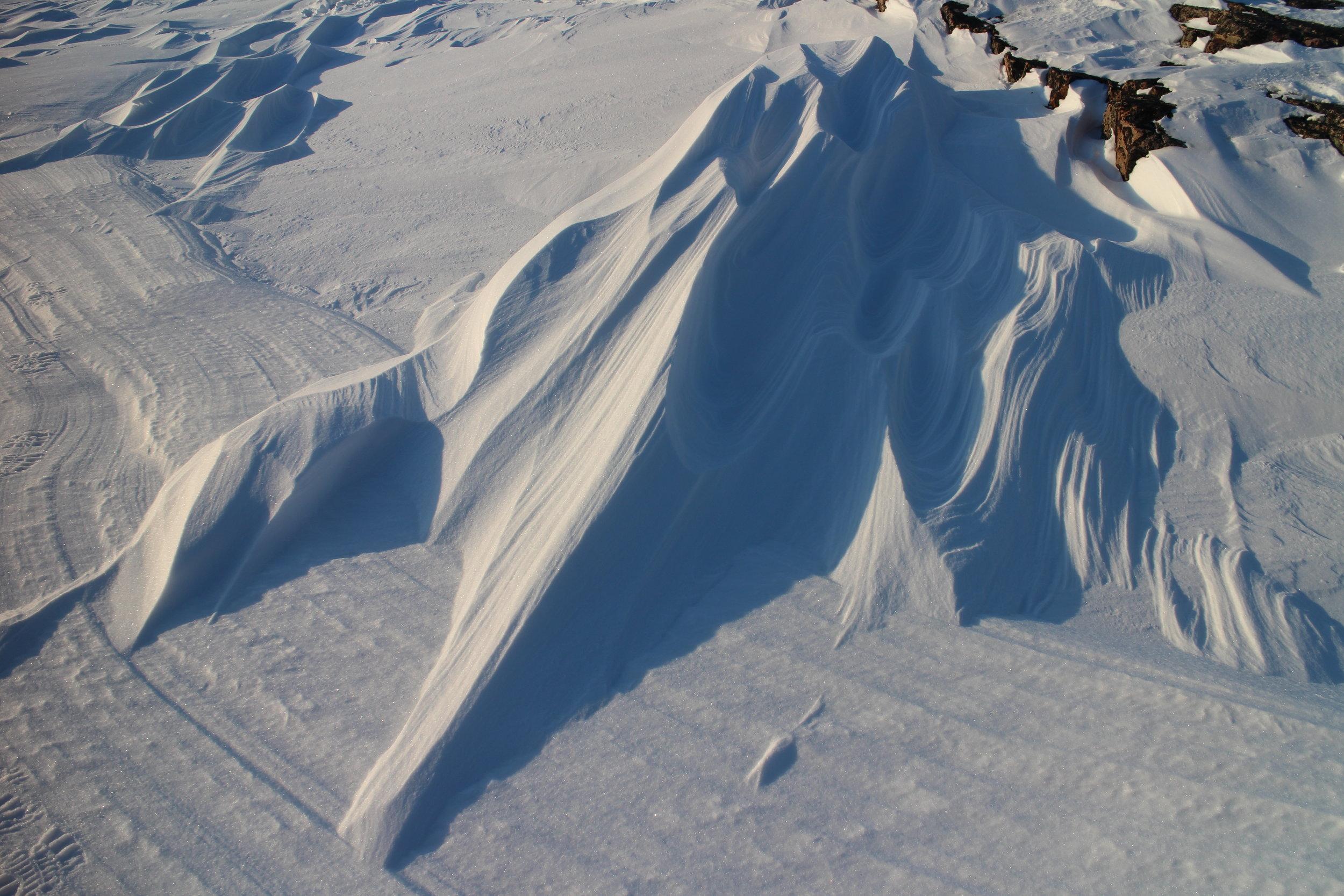 Snow drift near Kinngait  (Cape Dorset) 2014.