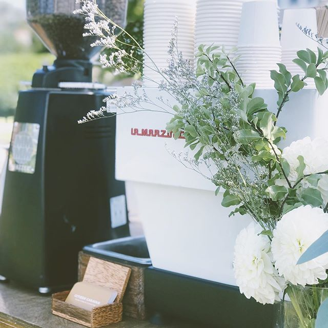 Wedding vibes... • • • • #lamarzoccohome #mobilebar #weddingbar #nycwedding #espressobar #barista