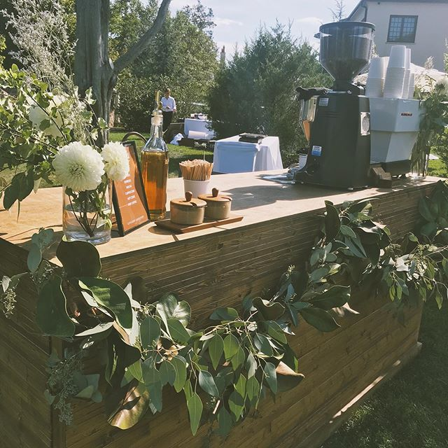 Our craft espresso bar service went beautifully. Weather was perfect, coffee was delicious and the people were great! Congrats to the newly engaged couple, that also planned every detail. Such a memorable event.