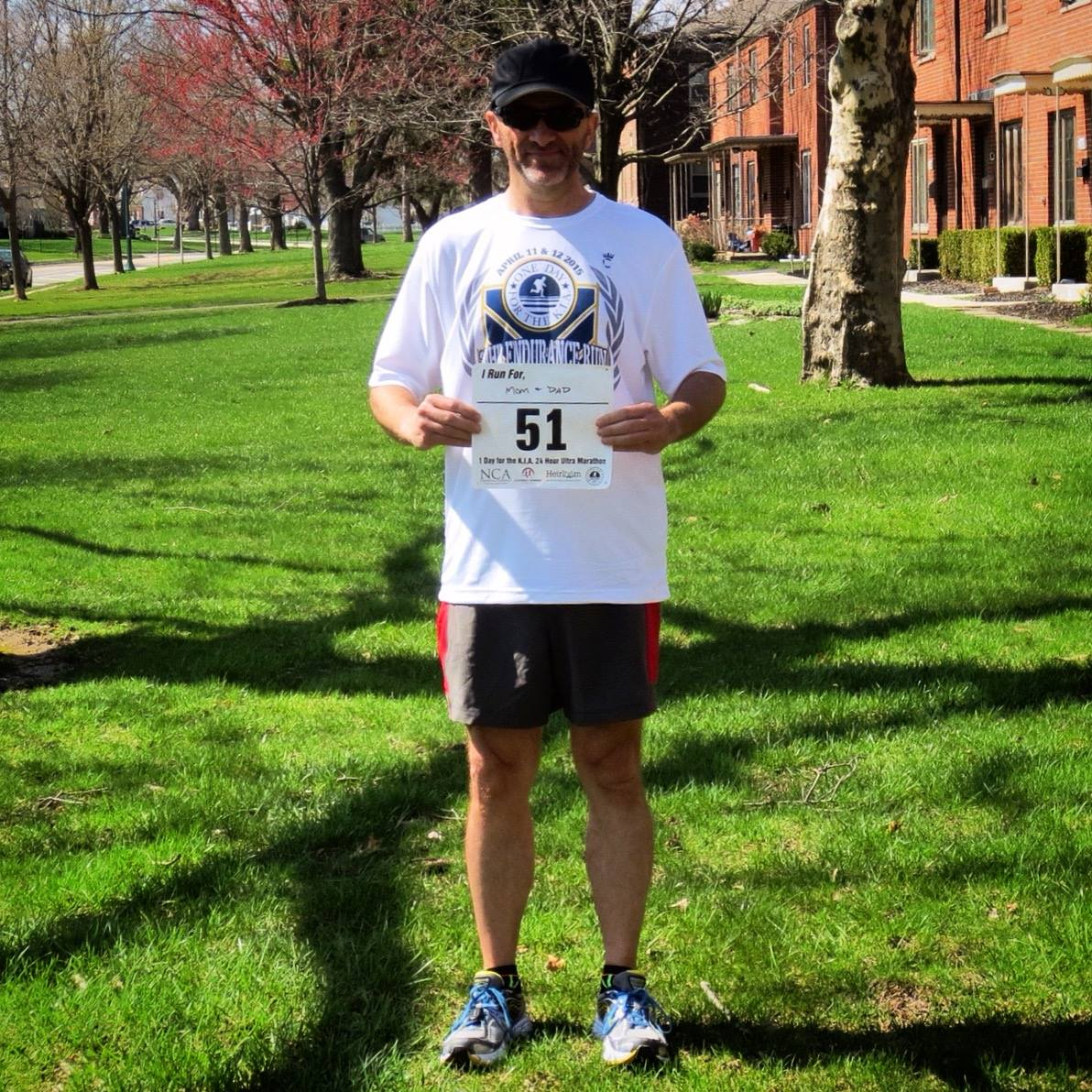 """Darrell McGrath, from our very own Columbus, OH, contributing an amazing 27.2 miles!! -- """"For Mom & Dad!"""""""
