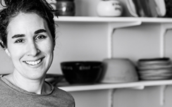 Louise Bilodeau is owner and one woman operator of Lulu Ceramics.
