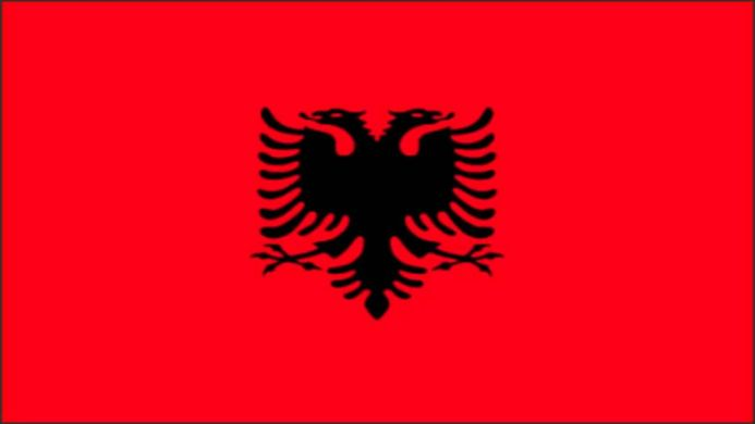 The Albanian national flag