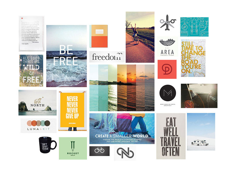 Inspiration Board created at the beginning of the project to guide the design process