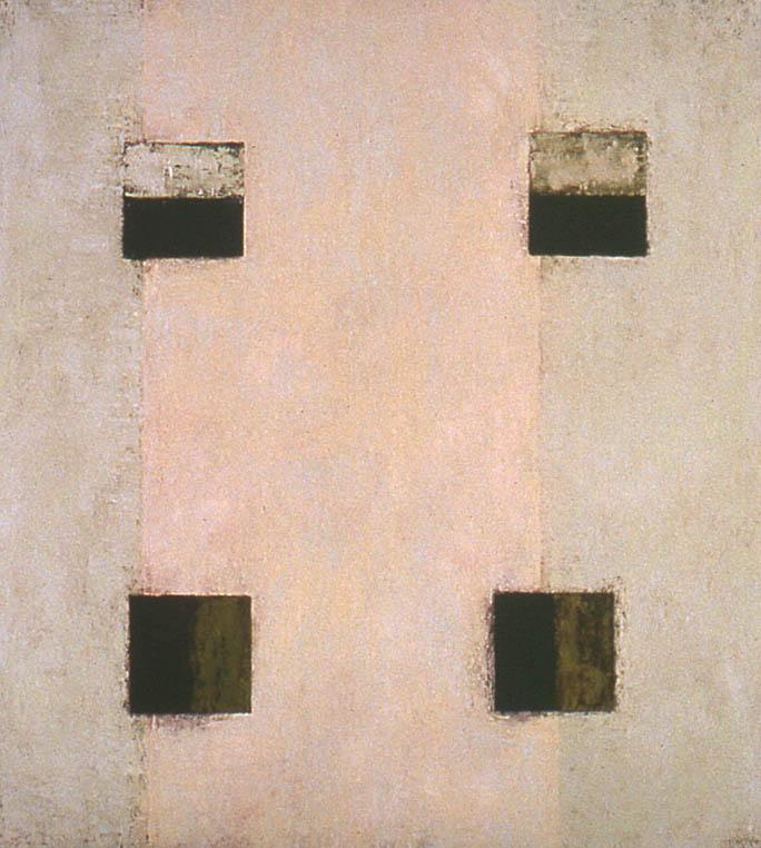 "Nighthawks---dry pigment on mi tientes----37.25"" x 37.5"""