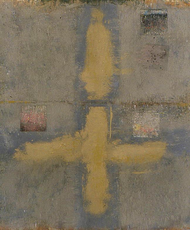 """Sleepwalking in Venice---dry pigment on mi tientes----43.5"""" x 40"""""""