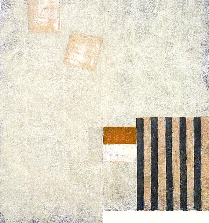 "Pascal's dream---dry pigment on mi tientes----32.5"" x 29.5"""