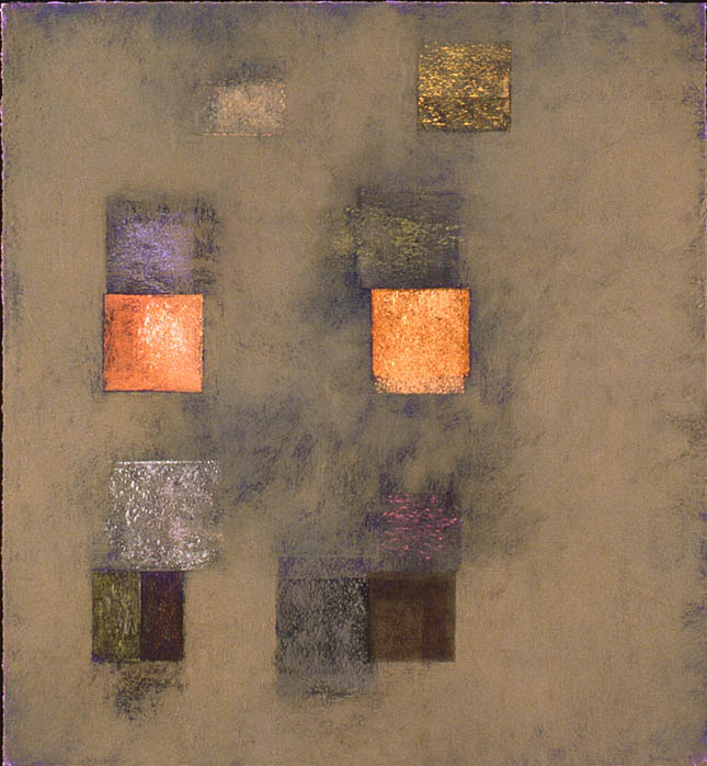 "Flotation device 1---dry pigment on mi tientes----42.5"" x 39.5"""