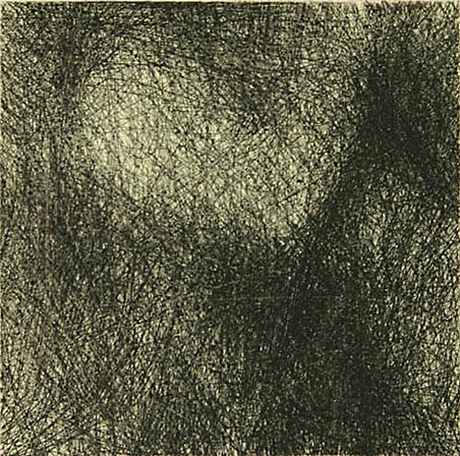 """Skin Flicks 507-6---ink and carbon black on paper----paper size 18"""" x 14.5"""" image size 4"""" x 4"""""""