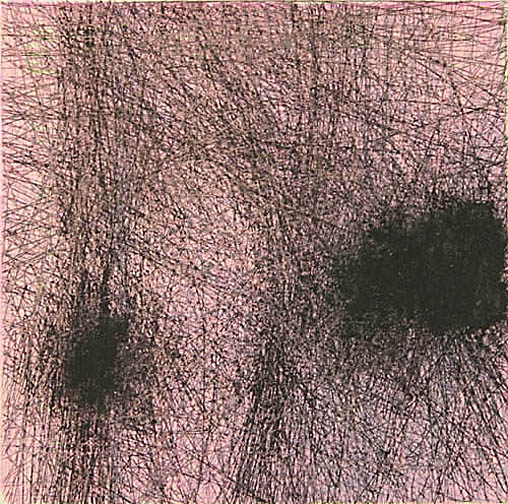 """Skin Flicks 507-19---ink and carbon black on paper----paper size 18"""" x 14.5"""" image size 4"""" x 4"""""""