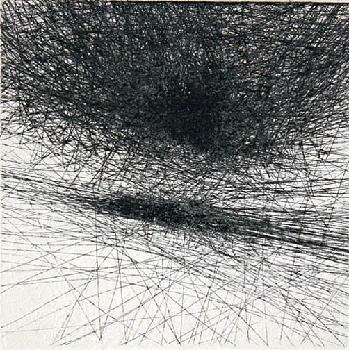 """Skin Flicks 907-28---ink and carbon black on paper----paper size 18"""" x 14.5"""" image size 4"""" x 4"""""""