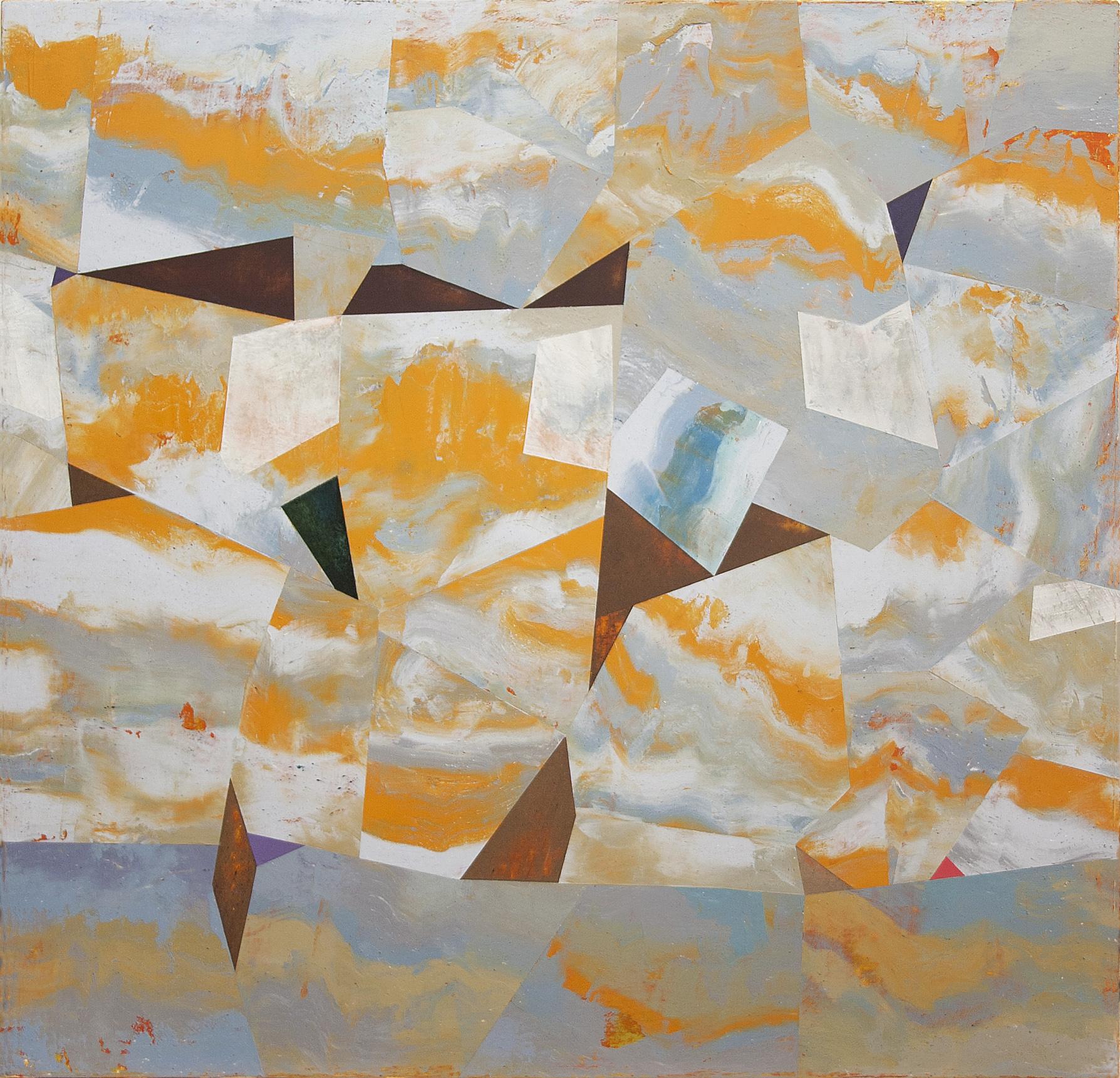 "Nuovi Paesaggi I---dry pigment/wax on canvas---23.25"" x 24"""