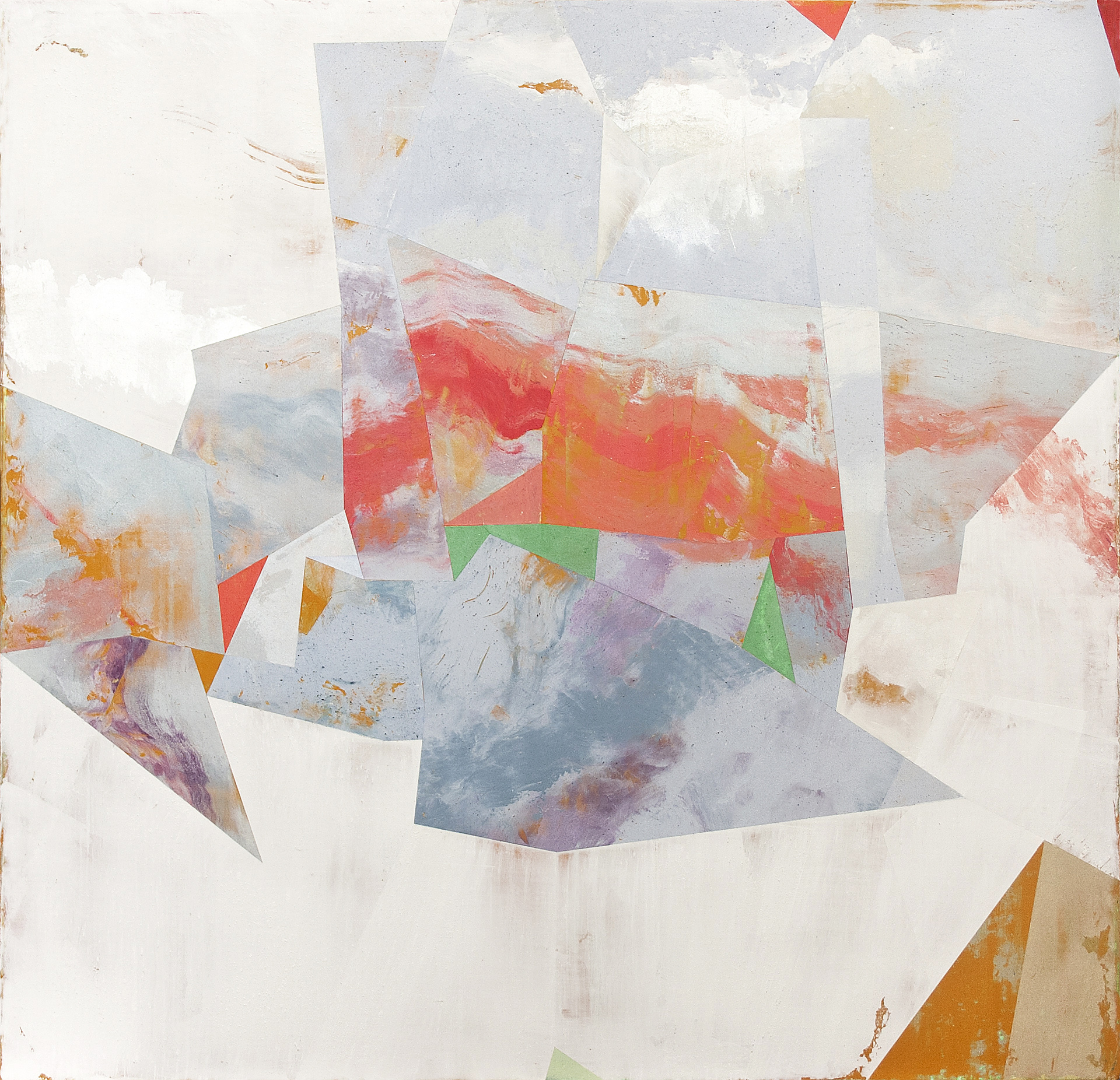 "Nuovi Paesaggi III---dry pigment/wax on canvas---23.25"" x 24""  SOLD"