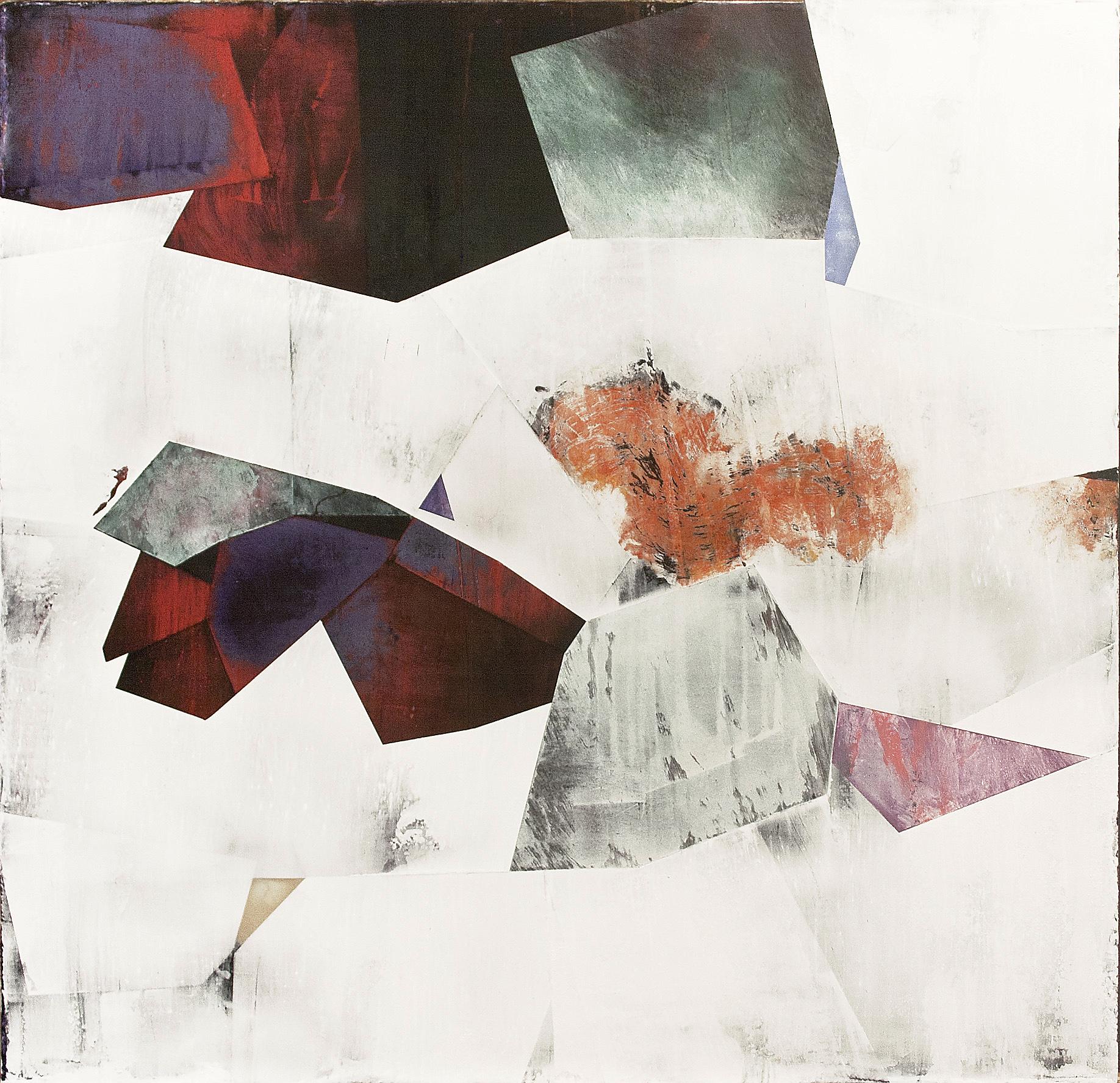 "Nuovi Paesaggi V---dry pigment/wax on canvas---23.25"" x 24"""