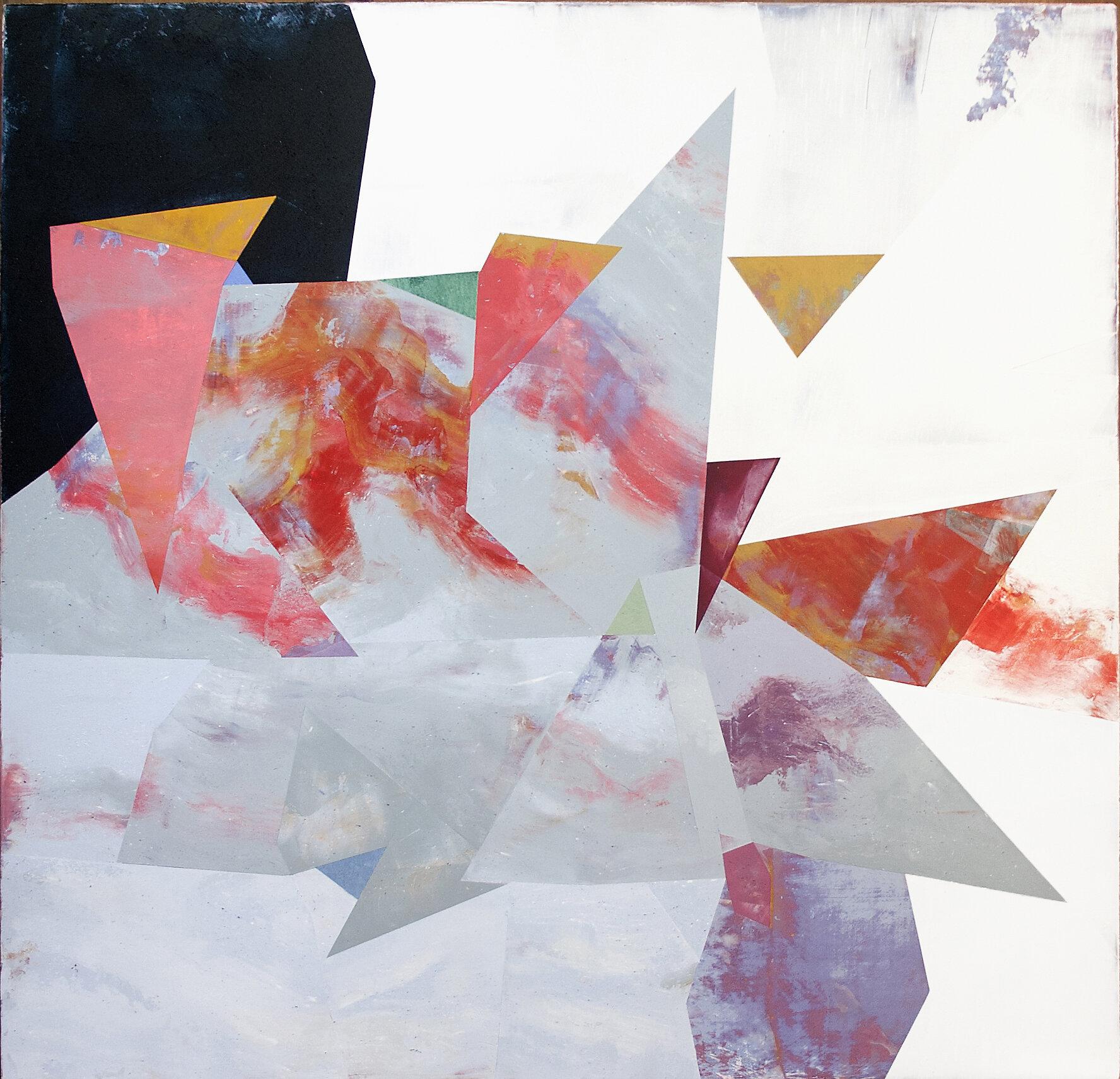 "Nuovi Paesaggi VI---dry pigment/wax on canvas---23.25"" x 24"""
