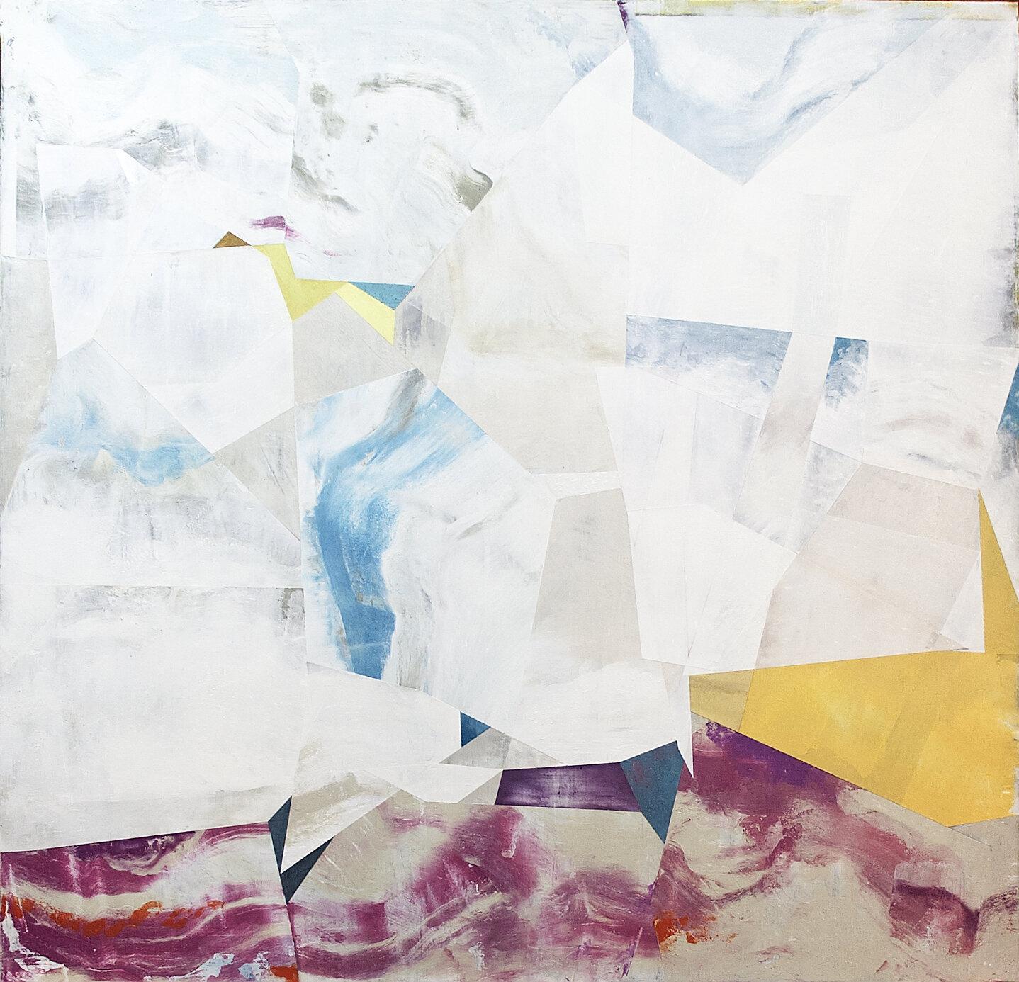 "Nuovi Paesaggi IV---dry pigment/wax on canvas---23.25"" x 24"""