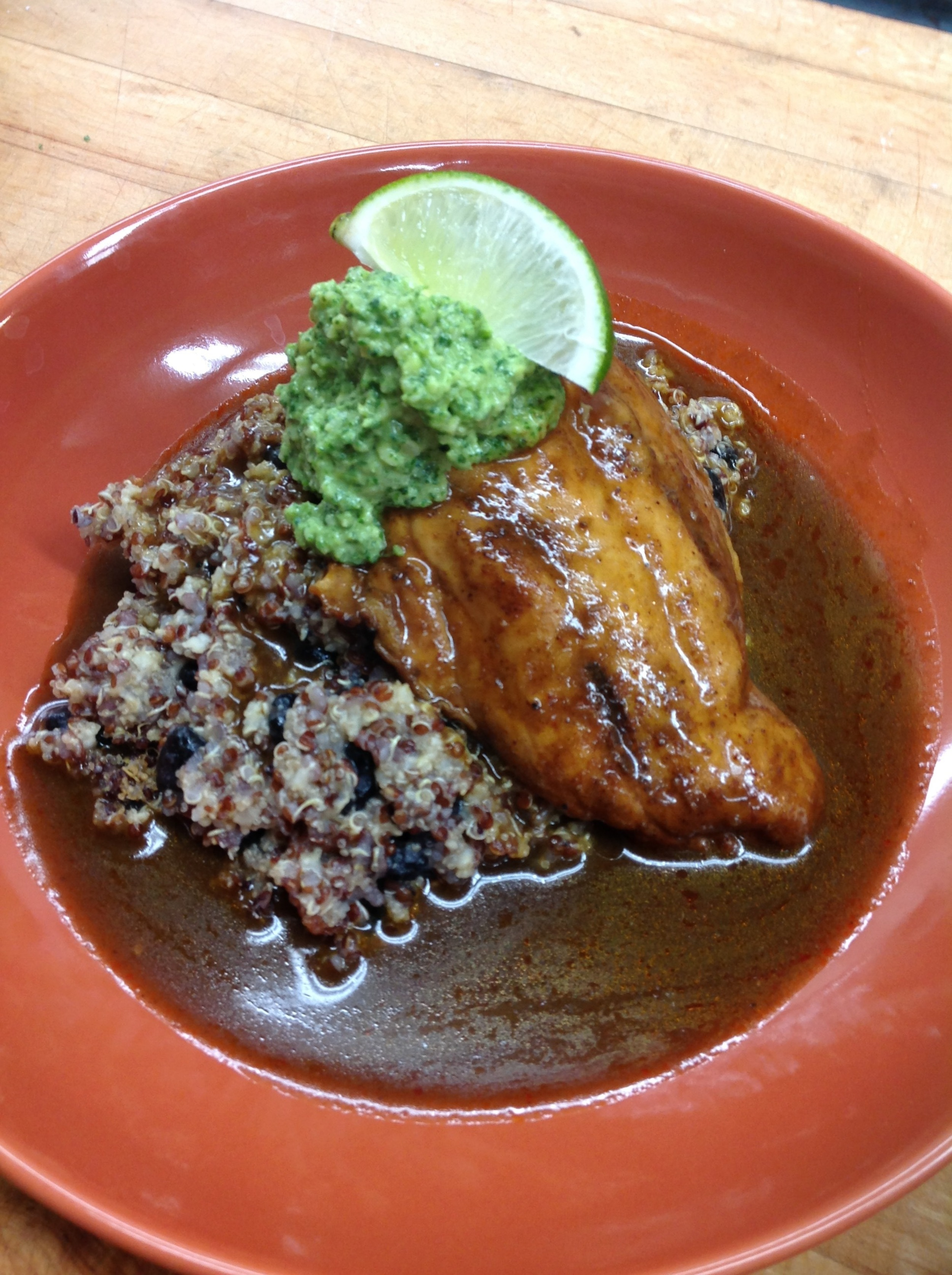 Slow roasted chicken with black beans