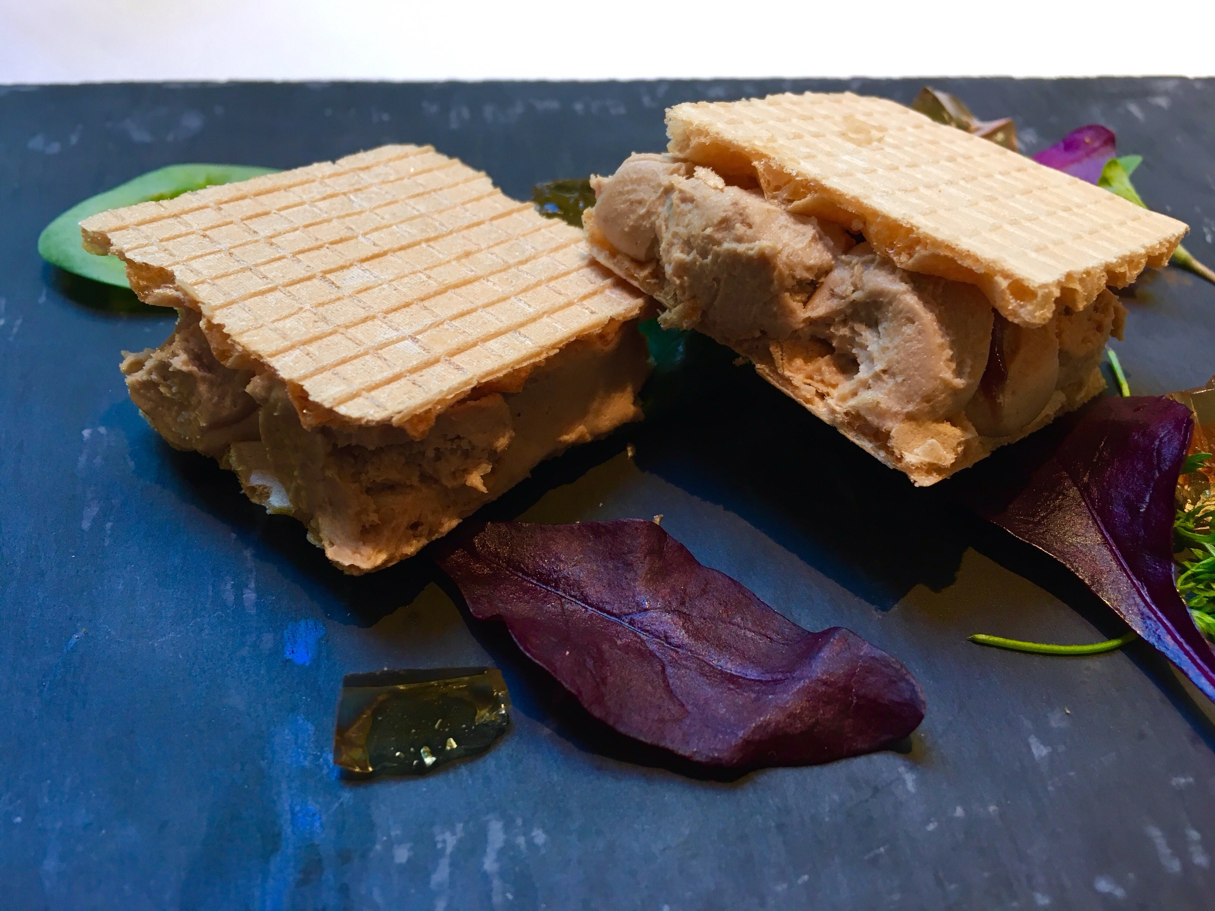 Pheasant pate cracker sandwich