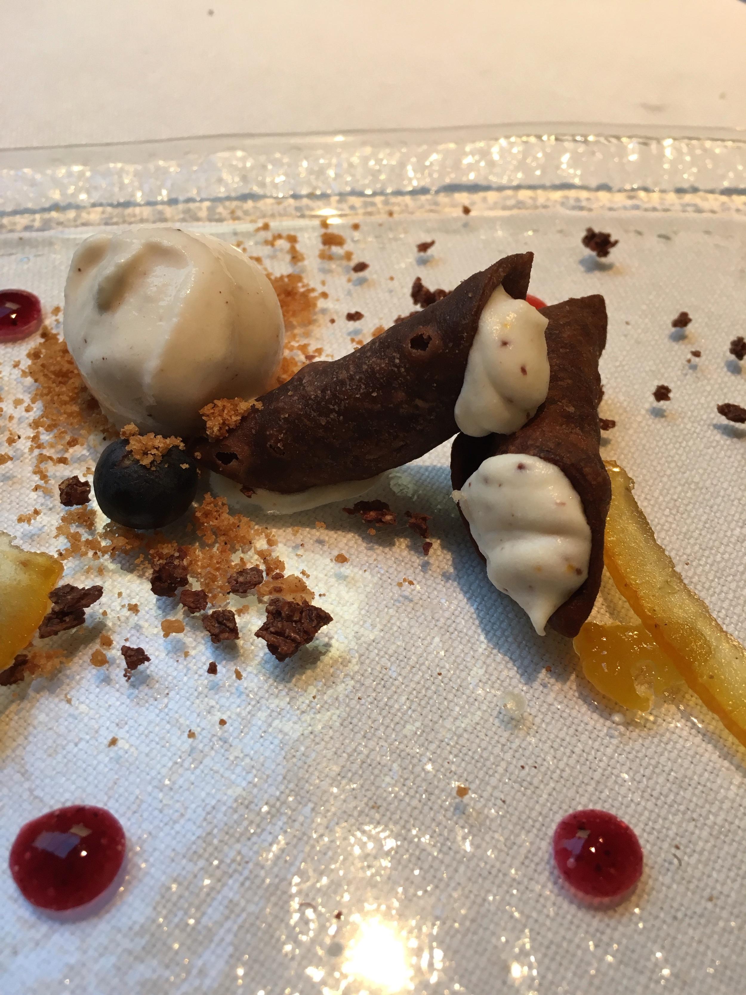 I chose Dessert #2, Cannoli