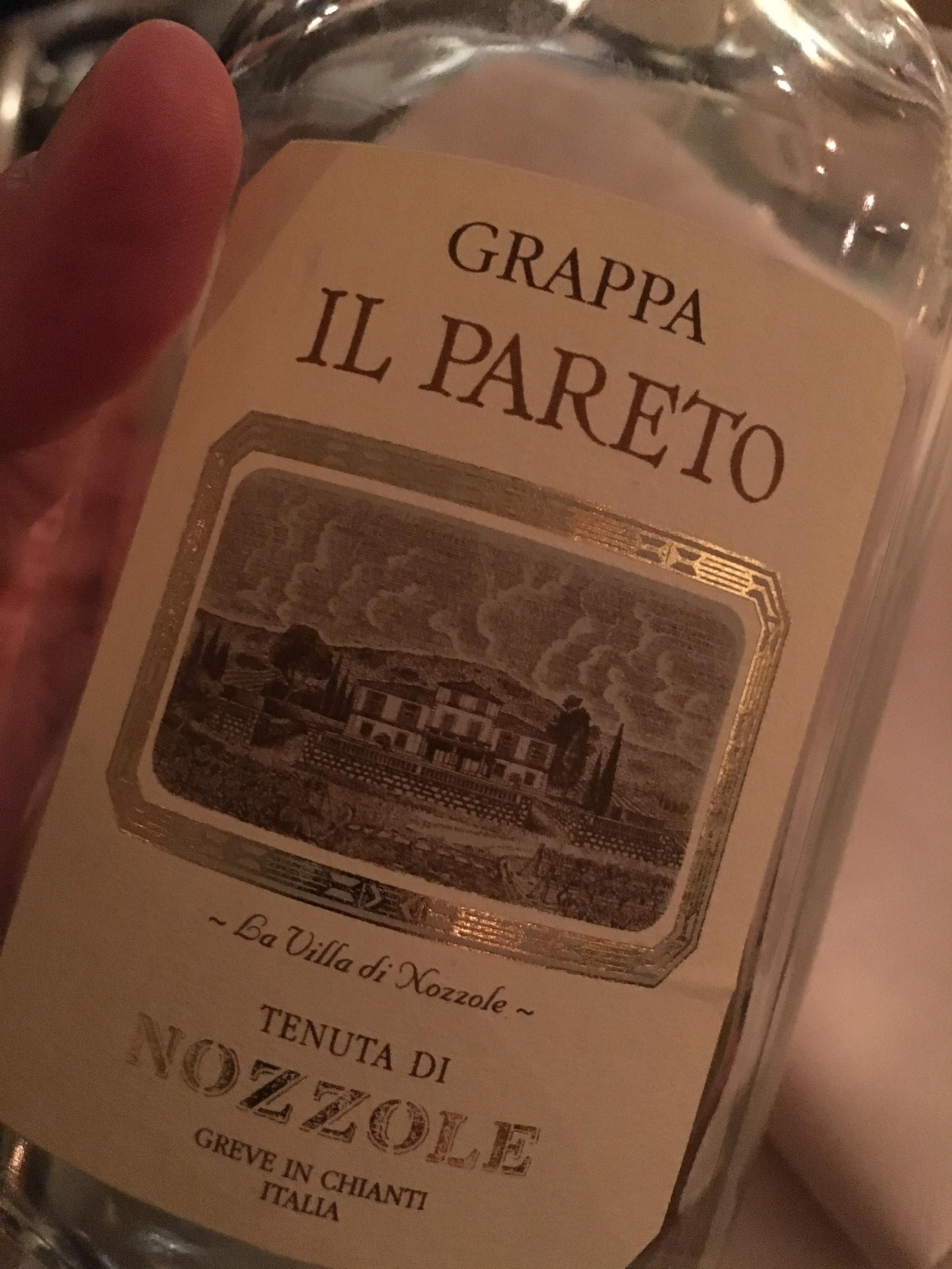 Il Pareto Grappa of Cabernet Sauvignon