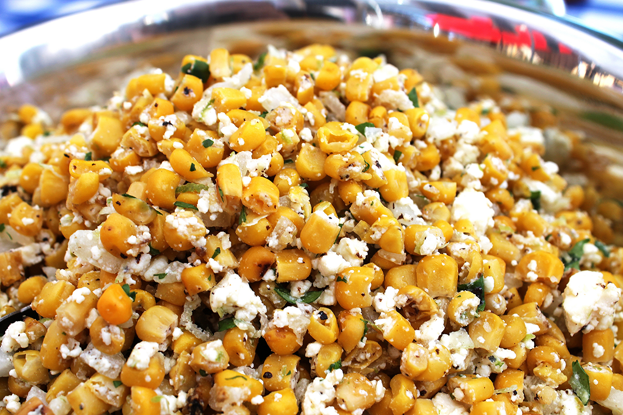 Corn and cotija salsa