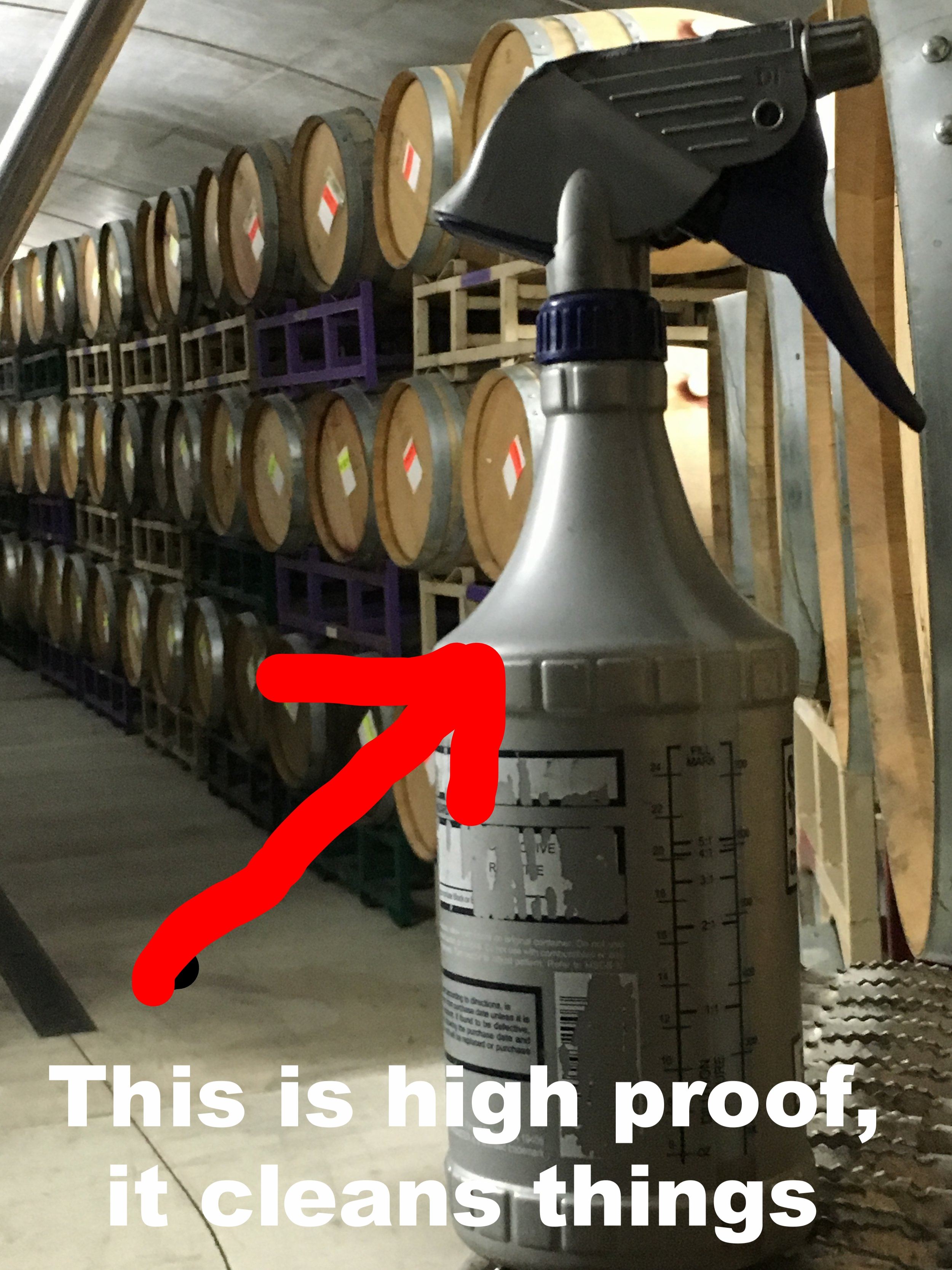 High proof alcohol cleans things