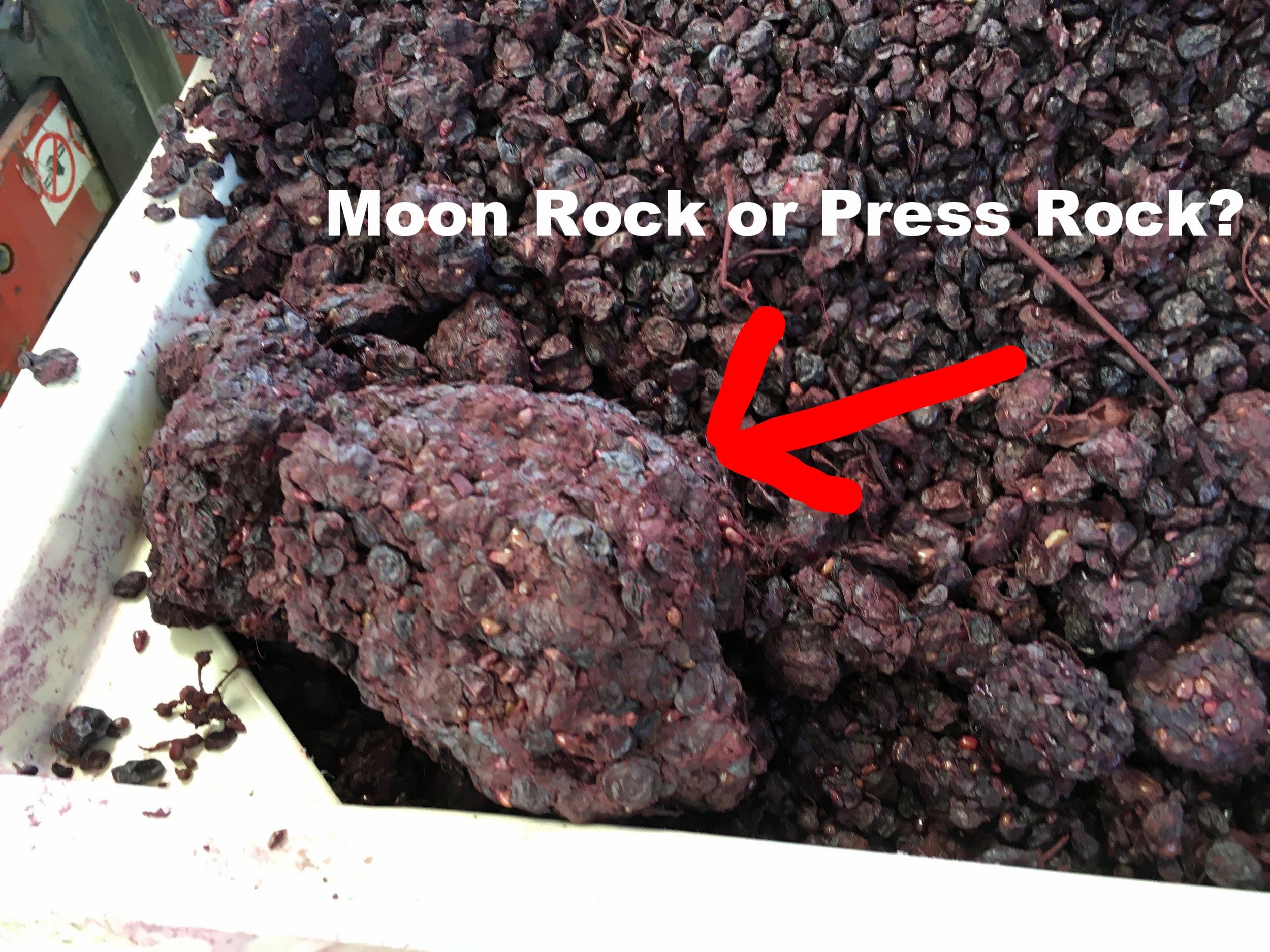 Hard pressing moon rocks