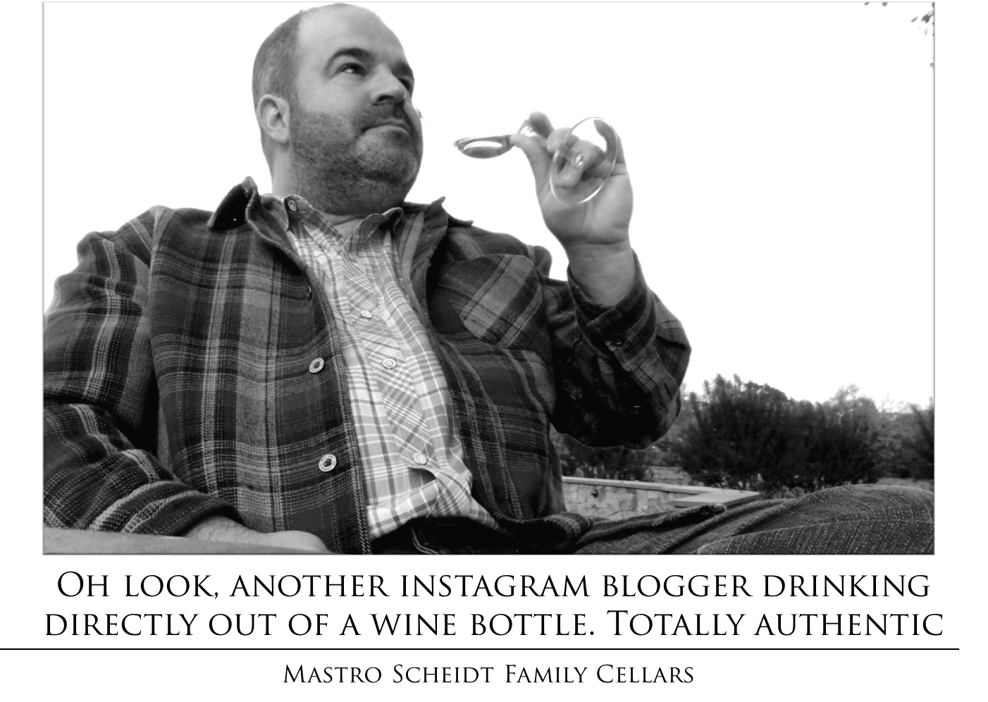 Wine Blogger Bottle Drinking