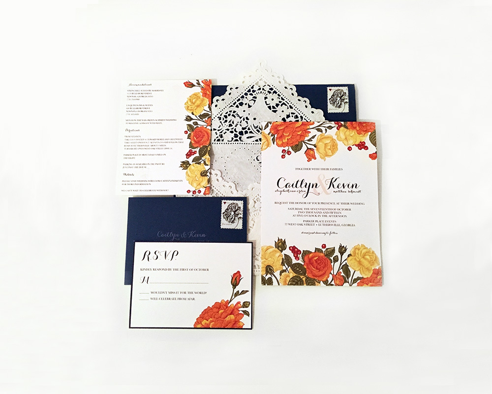 RSVP Card, Invitation, Accomodations Card