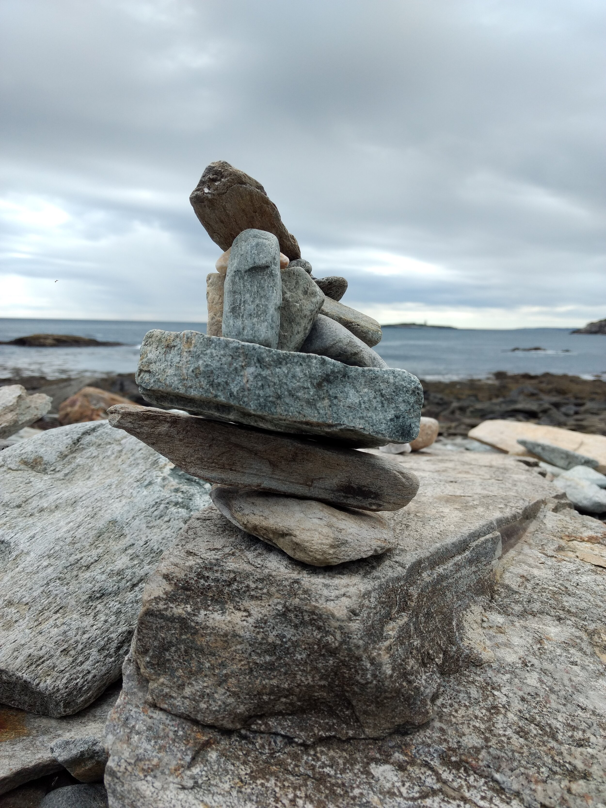 Rock cairn (my mom's local friend told us these are actually bad for the beaches - my nephews enjoyed knocking them down!)
